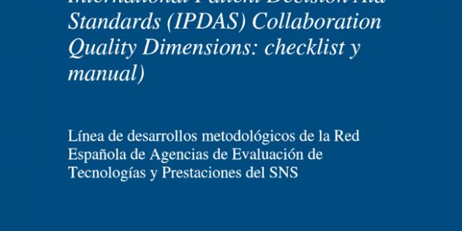 Se publica una versión resumida del manual de referencia IPDAS