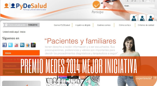 PyDeSalud recibe el Premio MEDES 2014 a la Mejor Iniciativa